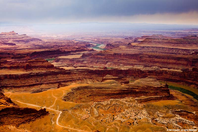 The Colorado River at Dead Horse Point, Moab, Utah