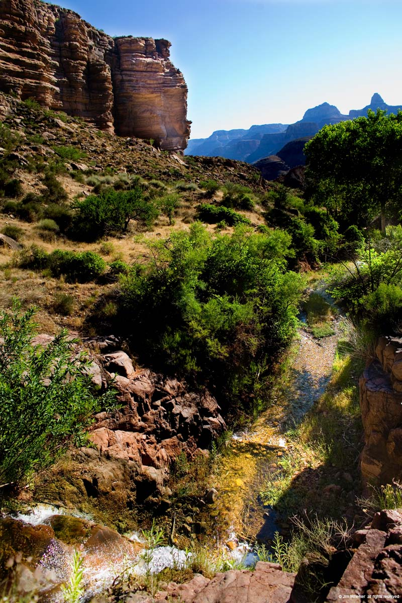 Grand Canyon, Garden Creek along Bright Angel Trail, shot @ 3439 feet