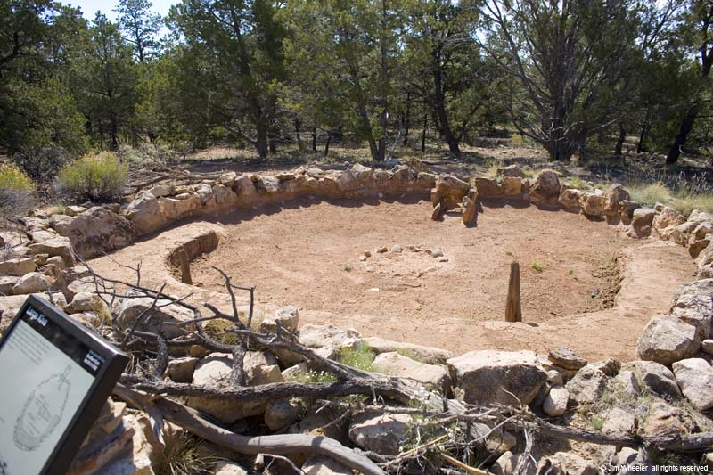 Large Kiva at Tusayan Ruin, near the South Rim of Grand Canyon