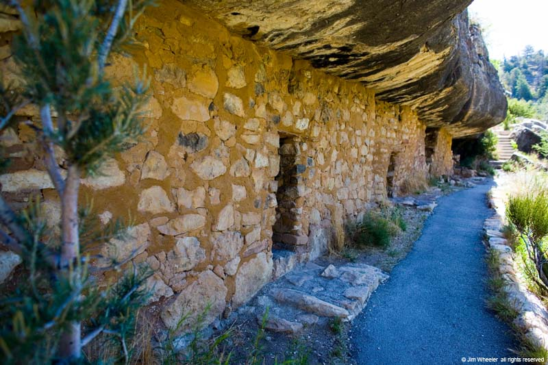 Cliff dwellings at Walnut Canyon, Arizona