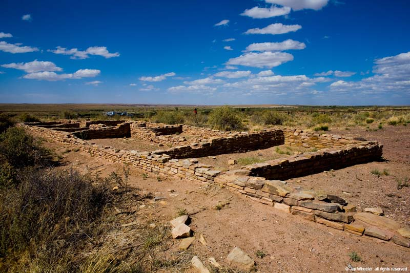 Ruins at Puerco Pueblo in Petrified Forest Nat'l Park