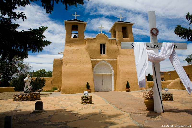 San Francisco de Asis Church in Ranchos de Taos area, Taos, New Mexico